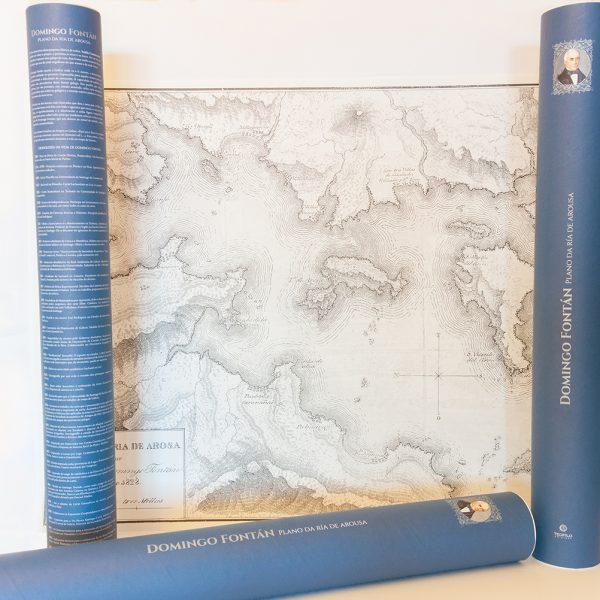 Plano da Ría de Arousa Domingo Fontán